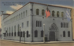 The Atlantic National Bank of West Palm Beach Post Card