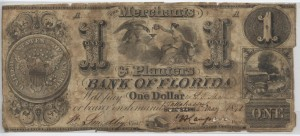 "1841 $1 ""A"" Plate Note from Harley L. Freeman Collection"