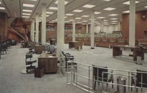 Interior View of the Atlantic National Bank of West Palm Beach Post Card