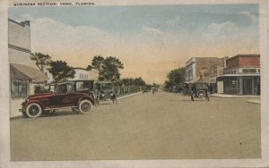 Business Section, Vero Florida Post Card