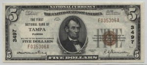 1929 Type 1 $5 Note Charter #3497