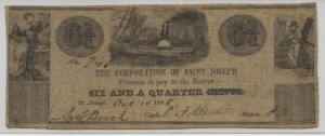 1838 6 1/4 Cent  Note