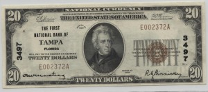1929 Type 1 $20 Note Charter #3497
