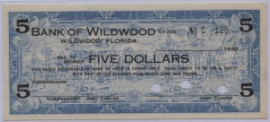 1933 Bank of Wildwood $5