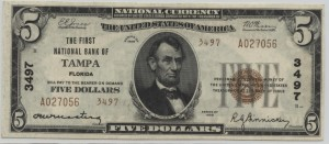 1929 Type 2 $5 Note Charter #3497