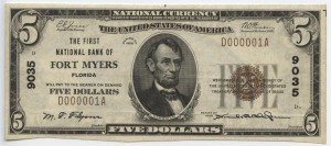 1929 Type 1 $5 Note Charter #9035