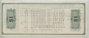 1907 Pensacola Clearing House $1 Cashiers Check Serial #1