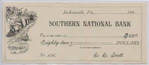 189_ Southern National Bank $82.88 Check