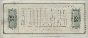 1907 Pensacola Clearing House $5 Cashiers Check Serial #1