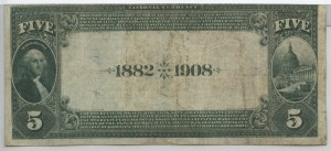 1882 Date Back $5 Note Charter #5603