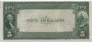 1882 Value Back $5 Note Charter #5603