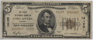 1929 Type 2 $5 Charter #14195 (Only 2 Known)