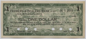 1933 Farmers & Dealers Bank $1