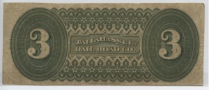 "1870 $3 ""A"" Plate Note"