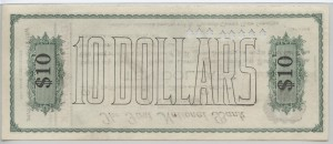 1907 Pensacola Clearing House $10 Cashiers Check Serial #1