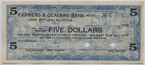 1933 Farmers & Dealers Bank $5