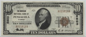 1929 Type 1 $10 Note Charter #5603