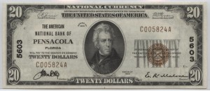 1929 Type 1 $20 Note Charter #5603