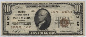 1929 Type 2 $10 Note Charter #14195