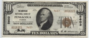 1929 Type 2 $10 Note Charter #5603