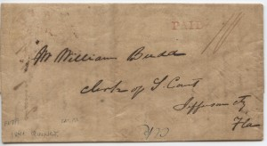 1841 Quincy .10 Paid Postage