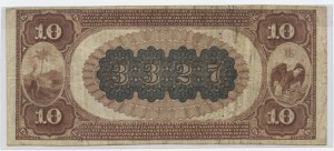 1882 Brown Back $10 Note Charter #3327