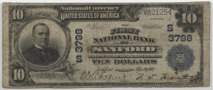 1902 Plain Back $10 Note Charter #3798
