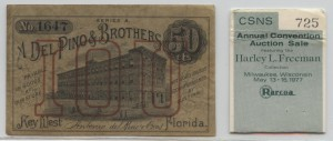 1880's Series A .50 Cent Note from Harley L. Freeman Collection