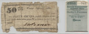 1862 .50 Note  from Harley L. Freeman Collection