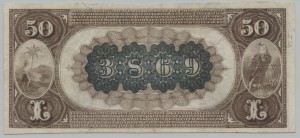 1882 Brown Back $50 Note Charter #3869