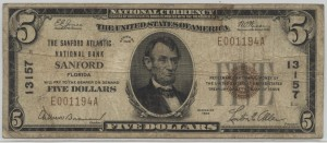 1929 Type 1 $5 Note Charter #13157