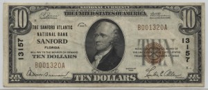 1929 Type 1 $10 Note Charter #13157