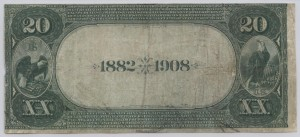 1882 Date Back $20 Note Charter #4949
