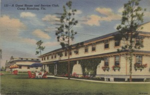 1943 Camp Blanding Guest House and Service Club Postcard