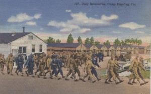 Marching Soldiers Postcard