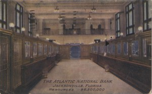 Interior View of the Atlantic National Bank Post Card