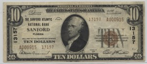 1929 Type 2 $10 Note Charter #13157