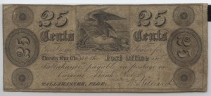 1839 .25 Cent Note