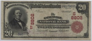 1902 Plain Back $20 Note Charter #S8802