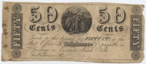 1839 .50 Cent Note