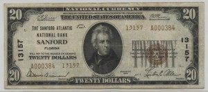 1929 Type 2 $20 Note Charter #13157