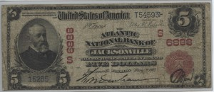 1902 Red Seal $5 Note Charter #S6888