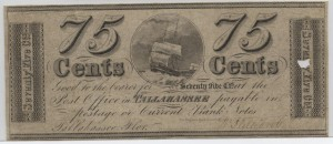 1839 .75 Cent Note