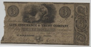 "1836 $3 ""A"" Plate Note"