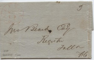 1850 Quincy .05 Paid Postage