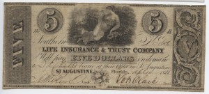 "1836 $5 ""A"" Plate Note from Harley L. Freeman Collection"
