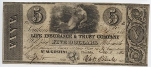 "1836 $5 ""A"" Plate Note"