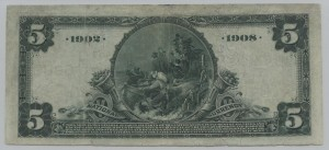 1902 Date Back $5 Note Signed E.W. Lane, Pres. Charter #S6888