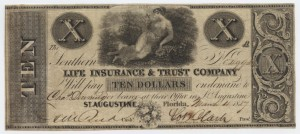 "1837 $10 ""A"" Plate Note"