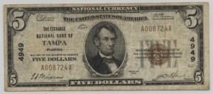 1929 Type 1 $5 Note Charter #4949